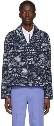 Kenzo Blue Denim Workwear Jacket