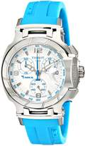 Tissot Women's T0482171701702 T-Race Dial Blue Silicone Strap Watch