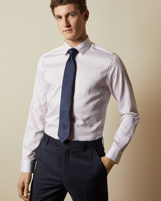 Ted Baker REWRITE Cotton geo print shirt