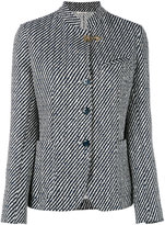 Fay striped standing collar blazer - women - Cotton/Polyamide/Polyester/Cupro - 40