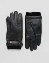 Dents Penrith Leather Glove In Black