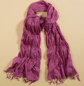 Ruched Cotton Scarf
