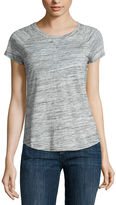 Liz Claiborne Short Sleeve Scoop Neck T-Shirt
