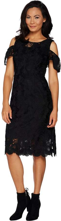 Isaac Mizrahi Live! Special Edition Lace Flutter Sleeve Sheath Dress