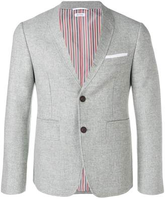 Thom Browne Trompe L'oiel Detail Melton Sport Coat