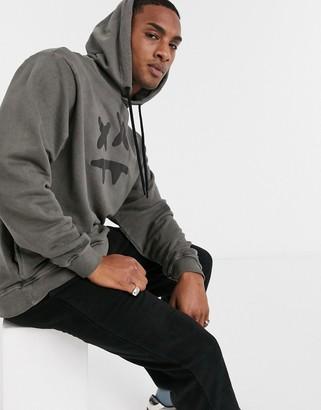 SikSilk x Steve Aoki hoodie in black