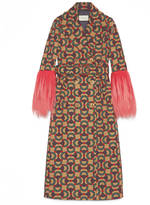 Gucci Horsebit jacquard wool coat