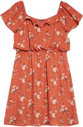 Trixxi Ditsy Floral Print Off the Shoulder Dress