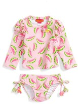 Kate Mack Infant Girl's Wild Watermelon Two-Piece Rashguard Swimsuit
