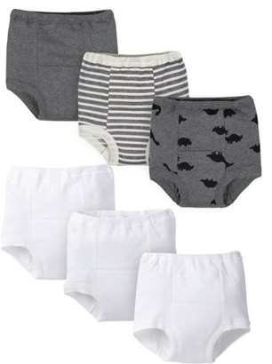 Gerber Organic Toddler Boys Training Pants, 6-Pack