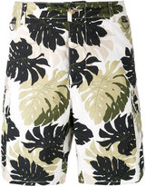 Ermanno Scervino leaf print cargo shorts - men - Cotton - 46