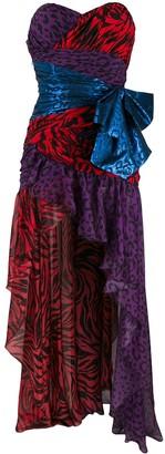 Faith Connexion Asymmetric Patchwork Gown