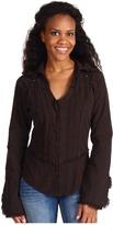Scully Cantina Long Sleeve Cross Shirt (Chocolate) - Apparel