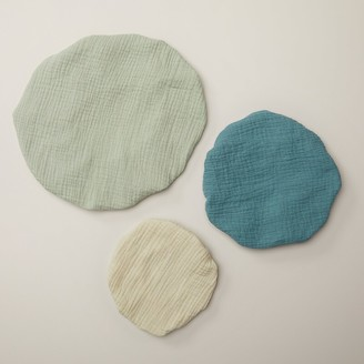 Oui Cotton Muslin Bowl Covers Cool Tones Set Of 3
