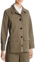 Kate Spade Ruffle Military Jacket