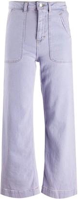 ALEXACHUNG High-Waisted Wide Leg Jeans