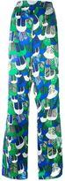DSQUARED2 patterned wide leg trousers - women - Silk - 40