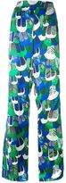 DSQUARED2 patterned wide leg trousers