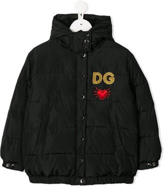 Dolce & Gabbana heart hooded jacket