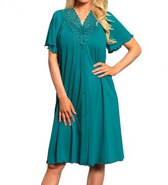 Shadowline Women's Plus-Size Beloved 41 Inch Flutter Sleeve Waltz Robe