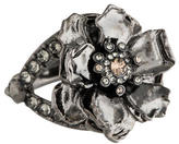 Alexander McQueen Crystal Flower Ring
