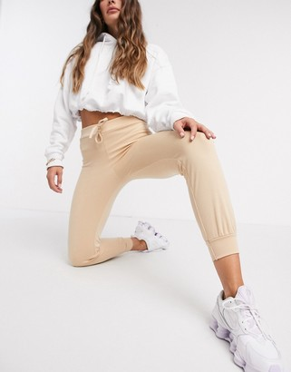 Street Collective mix and match high waisted joggers in camel