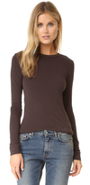 Enza Costa New Bold Brushed Jersey Crew Top