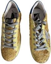 Golden Goose Superstar Yellow Glitter Trainers