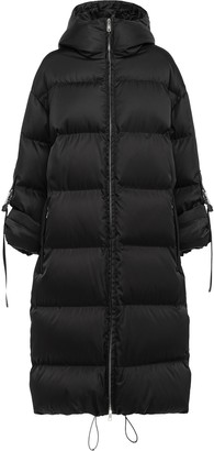 Prada Padded Coat With Roll-Up Buckle Sleeves