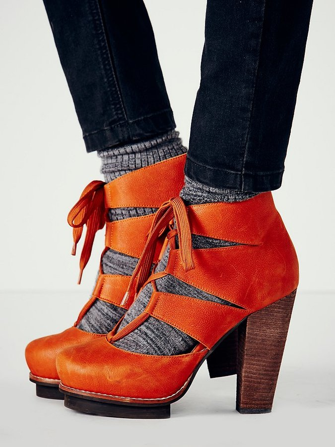 Jeffrey Campbell + Free People Dahlia Lace Up Heel