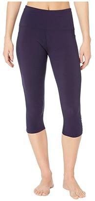 Lorna Jane Move Core Phone Pocket 3/4 Leggings (French Navy) Women's Casual Pants