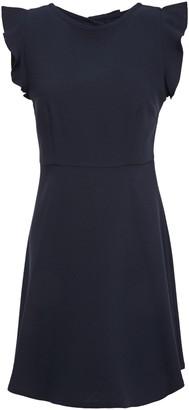Claudie Pierlot Open-back Bow-embellished Crepe Mini Dress