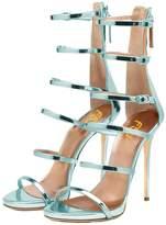 FSJ Women Hollow-out Sandals Open Toe Pumps High Heels Shoes Strappy Buckle Stilettos Size 10