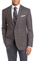 Pal Zileri Men's Classic Fit Windowpane Wool & Alpaca Sport Coat