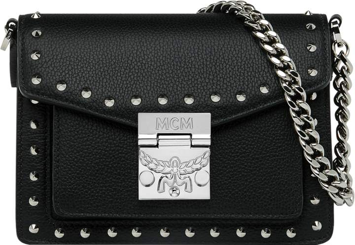 MCM Patricia Crossbody In Studded Outline Leather