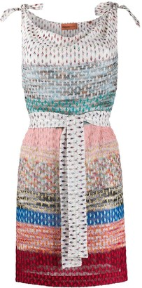 Missoni Mare Striped-Crochet Mini Dress