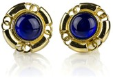Chanel Blue CC Round Earrings