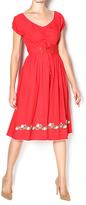 Aryeh Red Corset Waist Dress