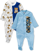 Moschino Kids teddy bear print and logo pyjama set