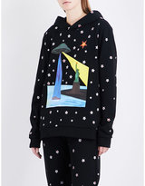 Christopher Kane UFO and star-print cotton-jersey hoody