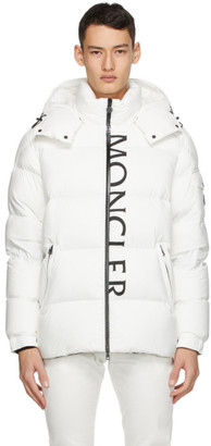 Moncler White Down Maures Puffer Jacket