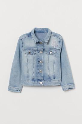 H&M Appliqued Denim Jacket