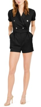 Bar III Double-Breasted Romper, Created for Macy's