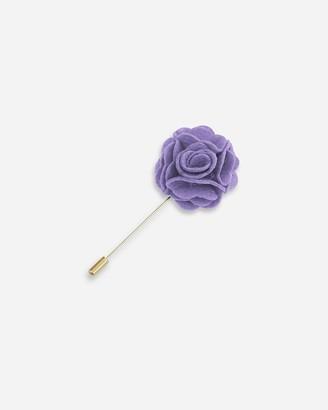 Express Pocket Square Clothing Light Purple Felt Floral Lapel Pin