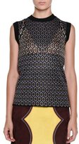 Marni Sleeveless Atomic-Knit Top, Quartzmoon
