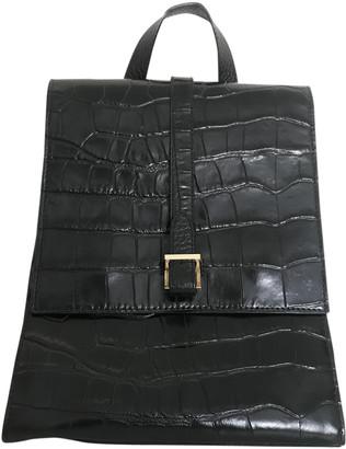 Meli-Melo Black Leather Backpacks