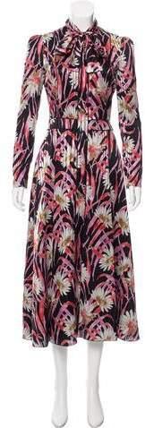 Giambattista Valli 2016 Floral Silk Dress