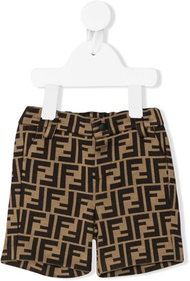 Fendi Kids FF logo shorts