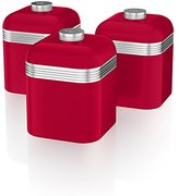 Swan Retro Storage Canisters, Red, 3-Piece