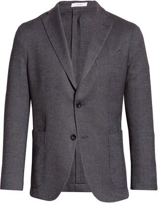 Boglioli Trim Fit Bird's Eye Wool & Cotton Blend Sport Coat